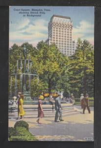 Court Square,Memphis,TN Postcard