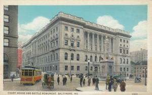 BALTIMORE, Maryland, 00-10s; Court House & Battle Monument