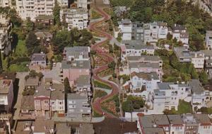 California San Francisco Lombard Street Crookedest Street In The World
