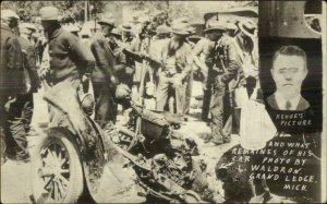Bath MI School Tragedy Mass Murderer Maniac Kehoe Car MaCabre 1927 RPPC xst