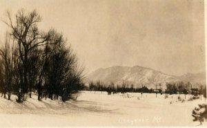 1911 Cheyenne Mt. Colorado Springs CO RPPC Photo Antique Postcard