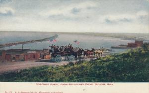 DULUTH , Minnesota, 1900-10s ; Coaching Party, From Boulevard Drive