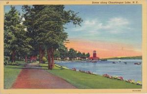 New York Chautauqua Lake Scene Along Chautauqua Lake