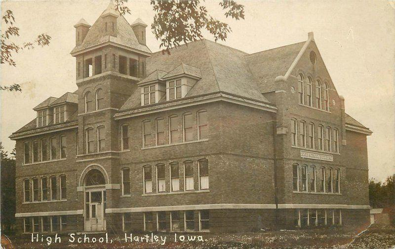 C-1910 Obrien County High School HARLEY IOWA RPPC real photo postcard 5392