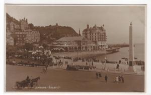 The Pavilion & Beach Front Llandudno Wales UK RPPC postcard