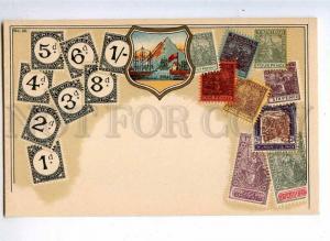231984 TRINIDAD Coat of arms STAMPS Vintage Zieher postcard