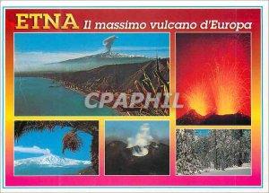 Postcard Modern Etna vulcano it massimo europa Sicilia