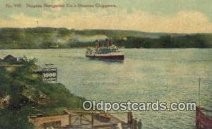 Steamer Chippewa, Niagara Navigation Company Steam Ship Postcard Post Cards  ...
