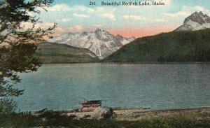 Vintage Postcard 1910's Beautiful Redfish Lake Idaho ID