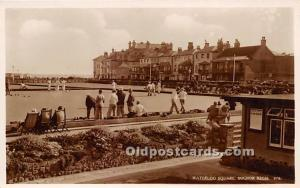 Old Vintage Lawn Bowling Postcard Post Card Waterloo Square, Bognor Regis Unused