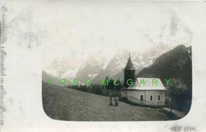 1909 Austria RPPC: Rax Mountaineering House in Hoarfrost