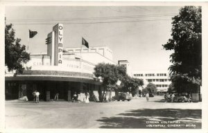PC CPA MOZAMBIQUE, BEIRA, CINEMA OLYMPIA, Vintage REAL PHOTO Postcard (b26747)