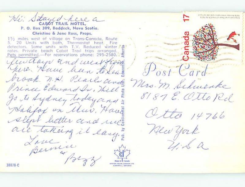 1980 Cabot Trail Motel Baddeck Nova Scotia NS o0706