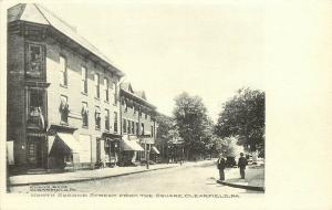 c1906 Printed Postcard; N. Second Street from the Square, Clearfield PA Unposted