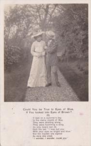 Bamforth Romantic Couple Could You Be True To Eyes Of Bue No 1 1906