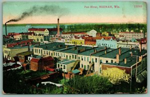 Neenah Wisconsin~Dr Giffin's Diphtheria Cure~Kimberly Clark~Downtown~c1908 PC