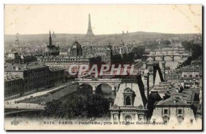 Paris Old Postcard Panorama taken from & # 39eglise Saint Gervais (Eiffel Tower)
