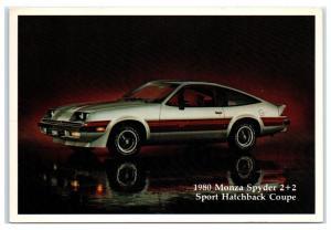 1980 Chevy Monza Spyder 2+2 Sport Hatchback Coupe Postcard
