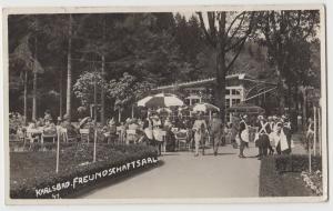 1932 KARLSBAD Freundschaftsaal Real Photo RPPC Postcard Cafe Czech Republic