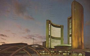 Toronto Canada New City Hall Illuminated Postcard