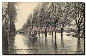 Old Postcard January 1910 Courbevoie Floods