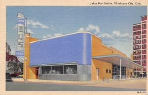 Oklahoma City Art Deco Union Bus Station~1943 Linen Postcard