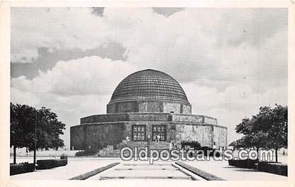 Space Postcard Post Card Chicago Park District, IL, USA Adler Planetarium & A...