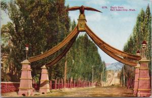 Eagle Gate Salt Lake City UT Utah Unused Postcard E35