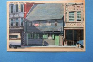 Paul Revere House Boston, Massachusetts Vtg Postcard, Historic Building