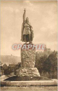 Postcard Old Winchester King Alfreds Statue