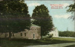 Richmond NH Rawson House & Town Hall c1910 Postcard