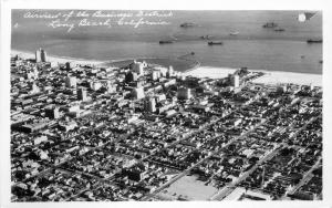 Airview Business District 1940s Long Beach California RPPC real photo 8490