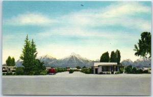 Tulare, California Postcard MOTEL DRAKE Highway 99 Roadside Linen c1950s Unused