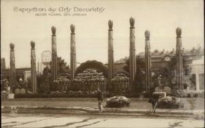 Paris 1925 Expo Arts Decoratifs D'cor Floral des Jardins Real Photo Postcard