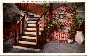 Louisiana New Orleans Old Absinthe House Stairway 1943
