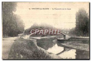 Old Postcard Chalons sur Marne Gateway Canal