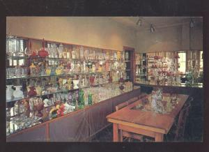 EAST SALEM WEST VIRGINIA THE GLASS CENTER STORE INTERIOR ADVERTISING POSTCARD