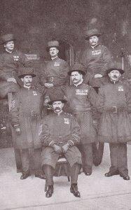 LONDON, England, 1930-1950s; Group Of Yeomen Wardens, Undress Uniform, Tower ...