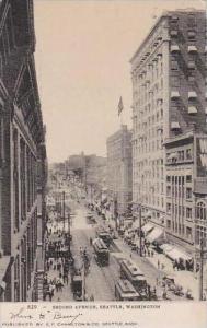 Washington Seattle Second Avenue 1907 Trolleys