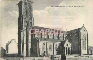 Old Postcard Douarnenez The Church of the Sacred Heart