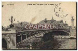 Postcard Old Paris Pont Alexandre III and the Grand Palais