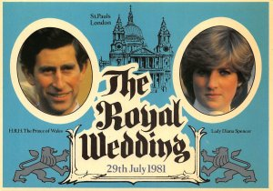 The Royal Wedding, Prince of Wales, Lady Diana Spencer Postcard