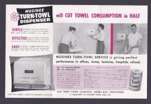 1952 NATHAN SCHWARTZ & SON AD FOR TOWEL DISPENSERS, BRIDGEPORT CT