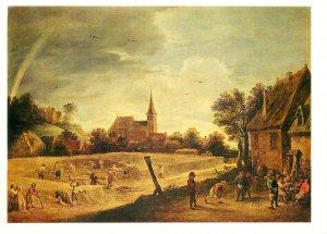 Postcard Art David Teniers the Younger harvesting 1640