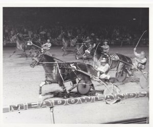 MEADOWLANDS RACE TRACK, Harness Horse Race, MCKINZIE ALMAHURST winner, 1982
