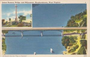 West Virginia Sheperdstown James Rumsey Bridge and Monument