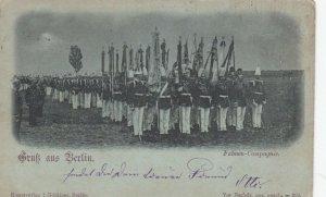 Gruss aus BERLIN , Germany , 1898 : Fahnen-Compagnie