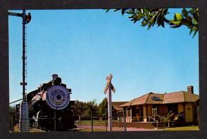 CA Bena Junction Railroad Train Station Bakersfield California Calif Postcard RR