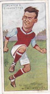 Players Vintage Cigarette Card Footballers Caricatures RIP 1926 No 25 William...
