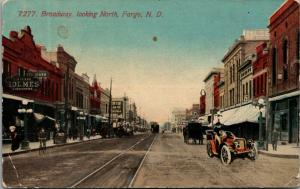 Fargo ND~Red River Land Co~Homes Clothiers~Bijou Theatre?~Palm~Trolley Trax 1912